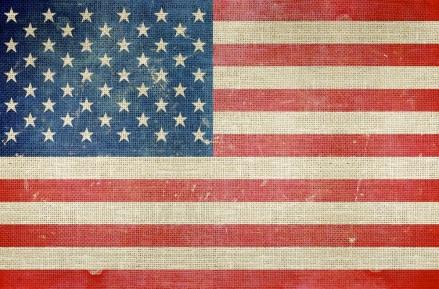 USA Flag on Canvas