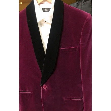 A Vintage Austin Reed Velvet Dinner Jacket Not Fashion Style